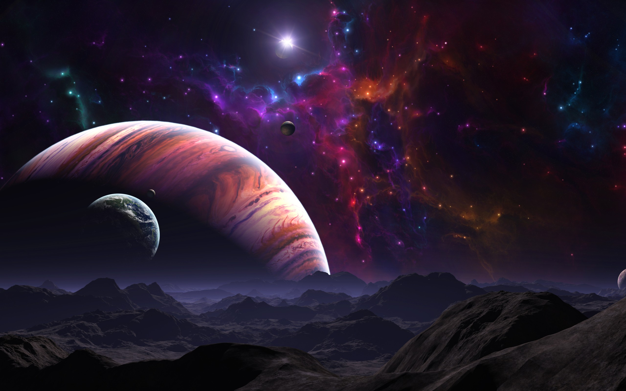 Outer Space Wallpaper 2560x1600 Outer, Space, Galaxies, Planets