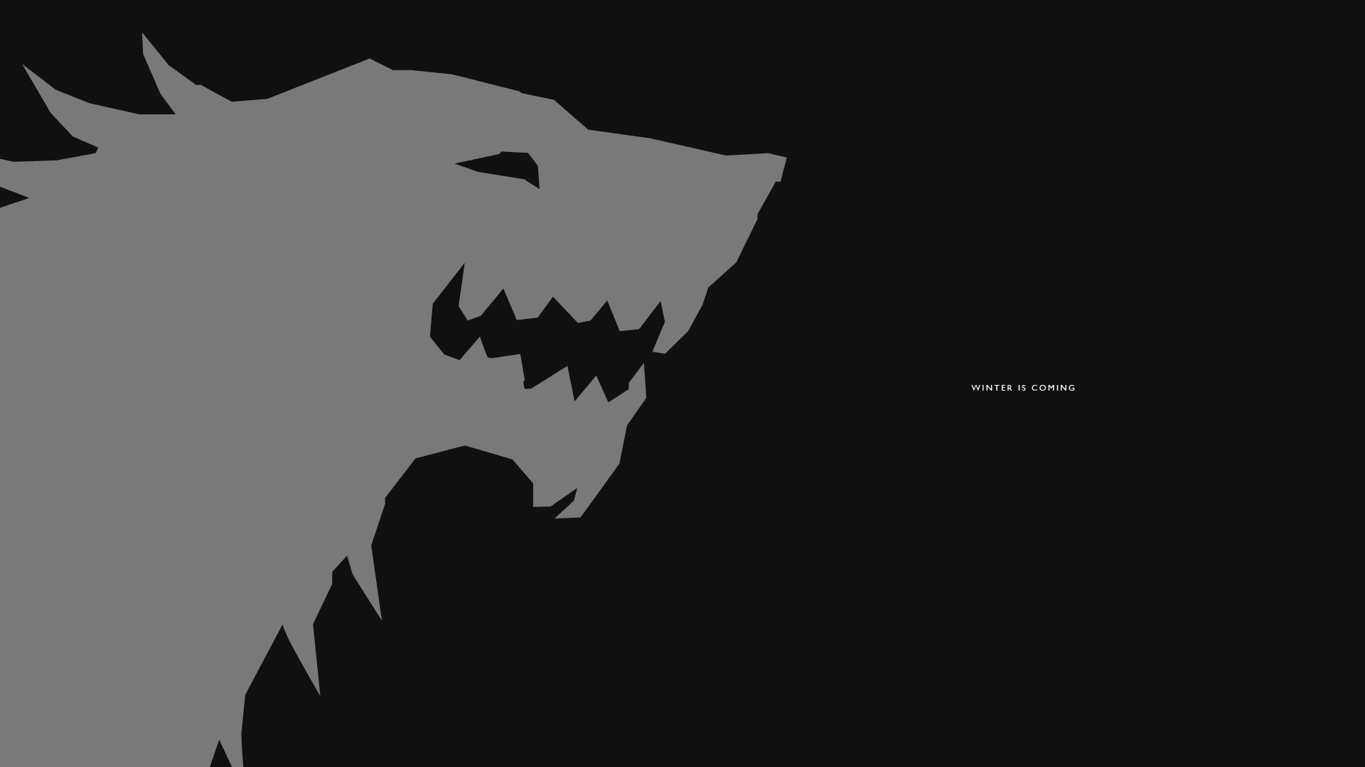 House Stark Sigil Winter Is Coming
