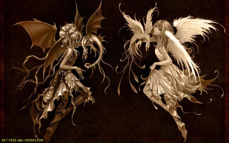 Angel Devil Wallpaper   LiLzeu   Tattoo DE 1440x900