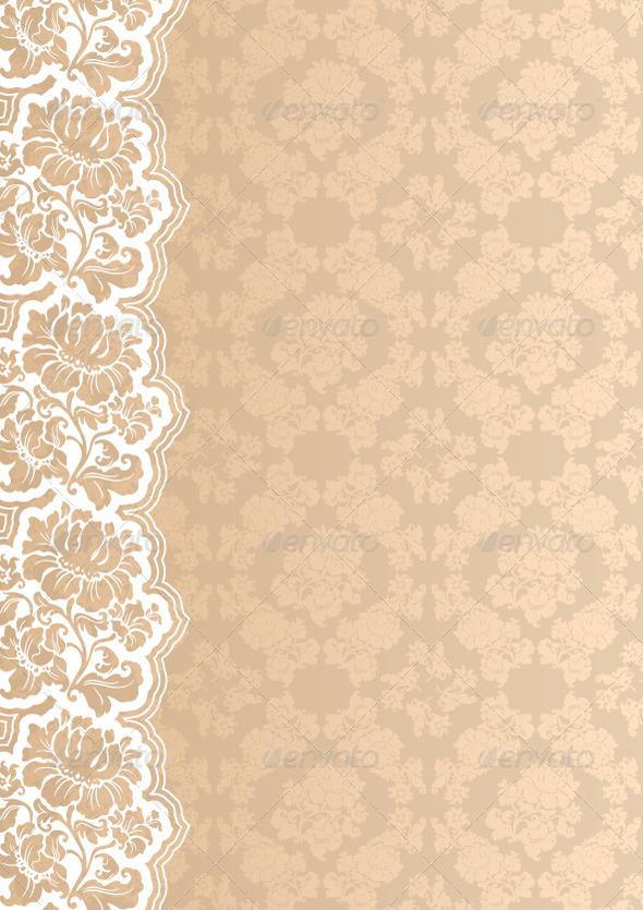 Flower Background with Lace GraphicRiver 590x835