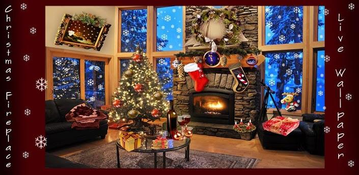 Christmas Fireplace Live Wallpaper v1007 705x344