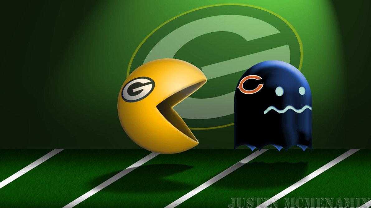 Packers Vs Bears Wallpaper Packman vs bears by irishmile 1192x670