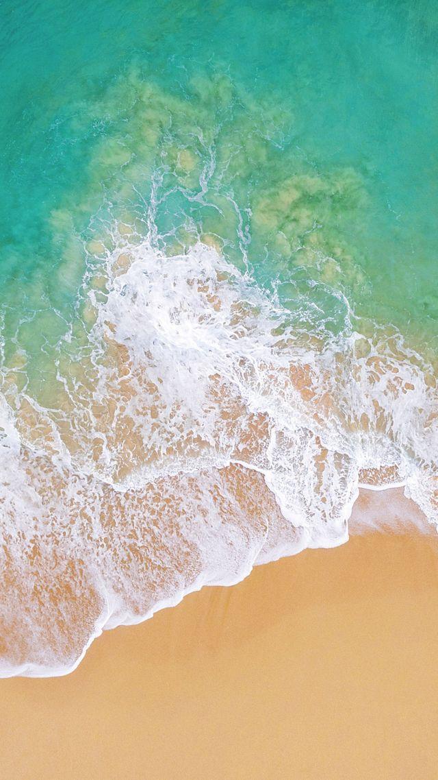 Wallpaper iOS 11 4k 5k beach ocean Nature 13655 640x1138