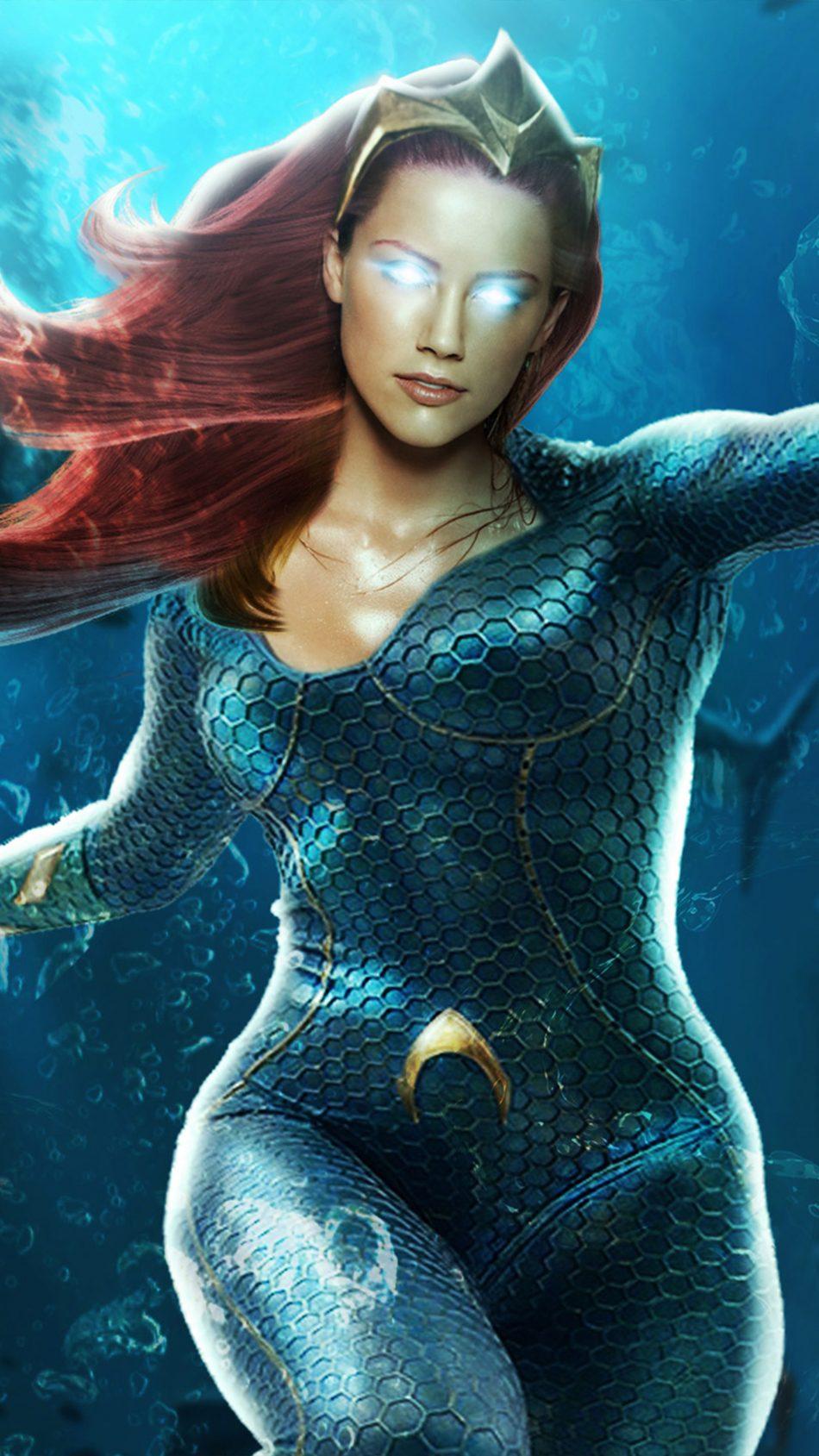 Download Amber Heard Mera Aquaman 2019 Pure 4K Ultra HD 950x1689