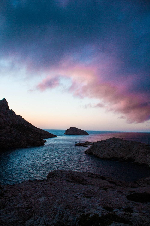 Twilight landscape beautiful sunset coast desktop wallpaper Gallery 1000x1500
