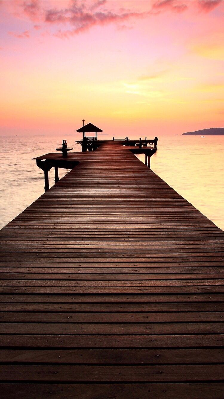 Beach romantic sunset wallpaper for your iPhone XS from Everpix 750x1334