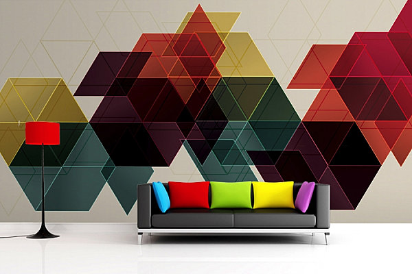 Geometric Wallpaper Mura Image 600x400