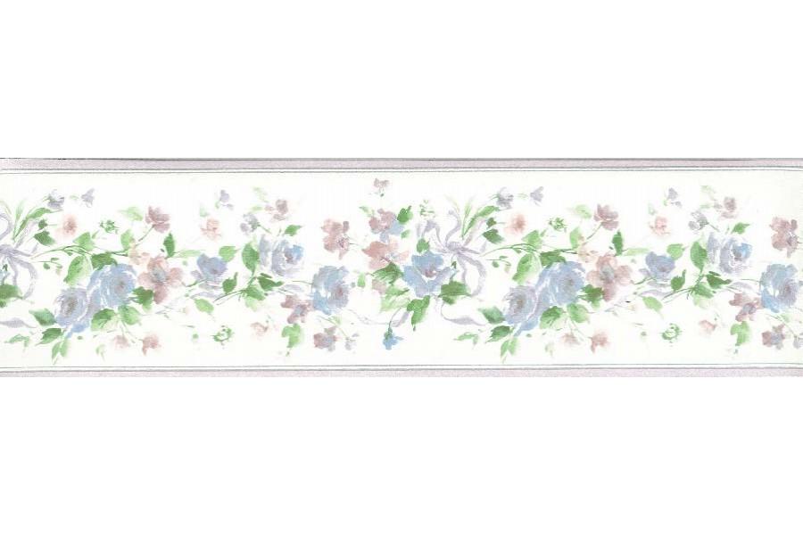 Blue Roses White Background Wallpaper Border 900x600