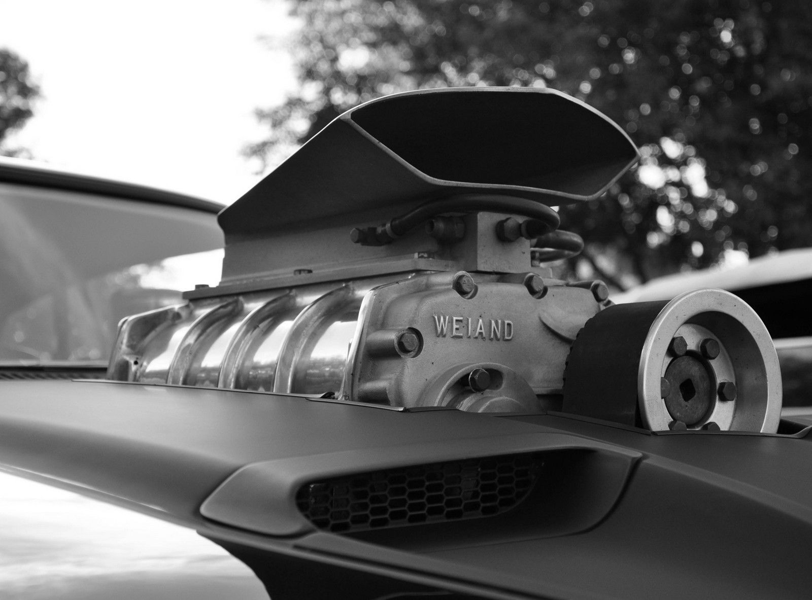 Beautiful picture   The supercharger is made by Weiand pronounced 1600x1183