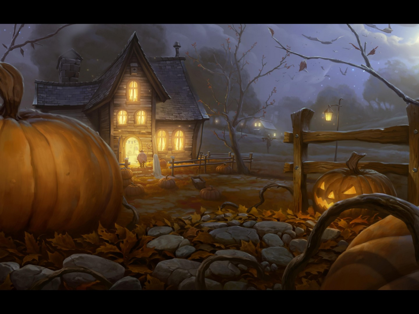 Halloween to wakacje pulpit tapety na pulpit HD panoramiczny 1440x1080
