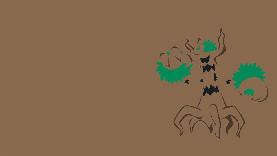 Trevenant Minimalism Brown Background wallpaper anime 970x545