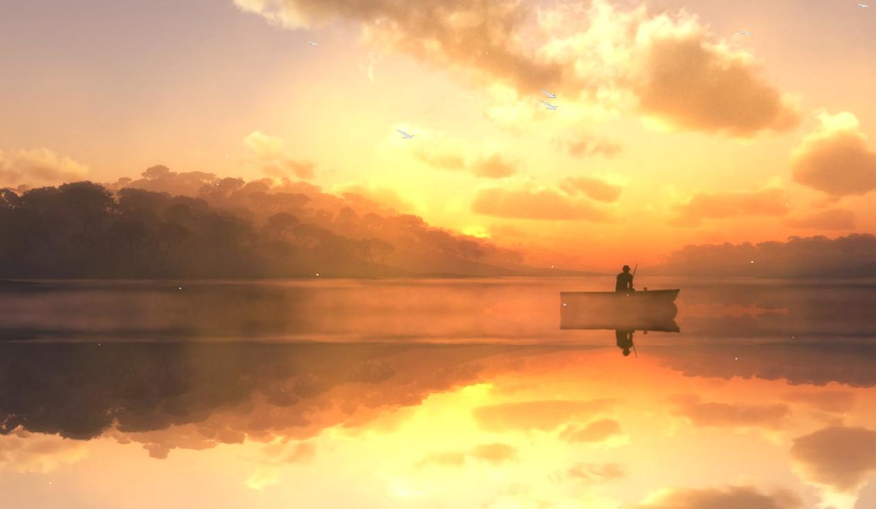 Download Now Beautiful Fishing Lake Animated Wallpaper 1261x733