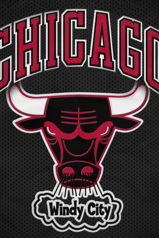 chicago bulls logo with smoke
