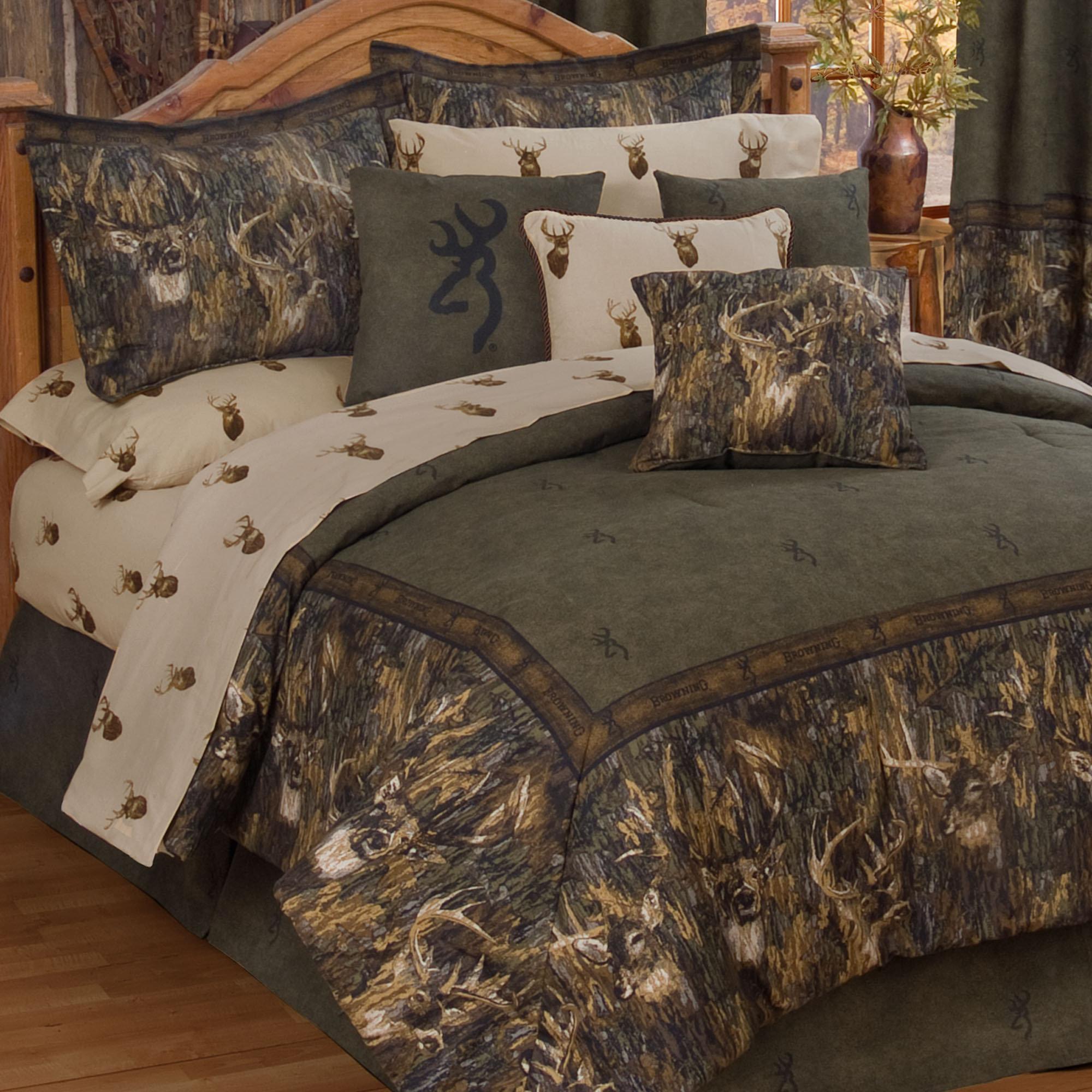BrowningR Whitetails Deer Camo Comforter Bedding 2000x2000