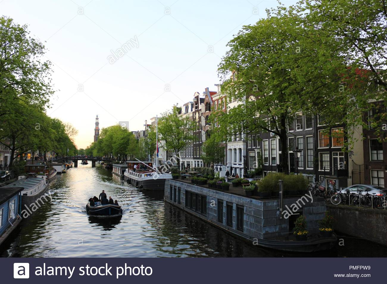 The Waalseilandsgracht canal in Amsterdam And in the background 1300x956