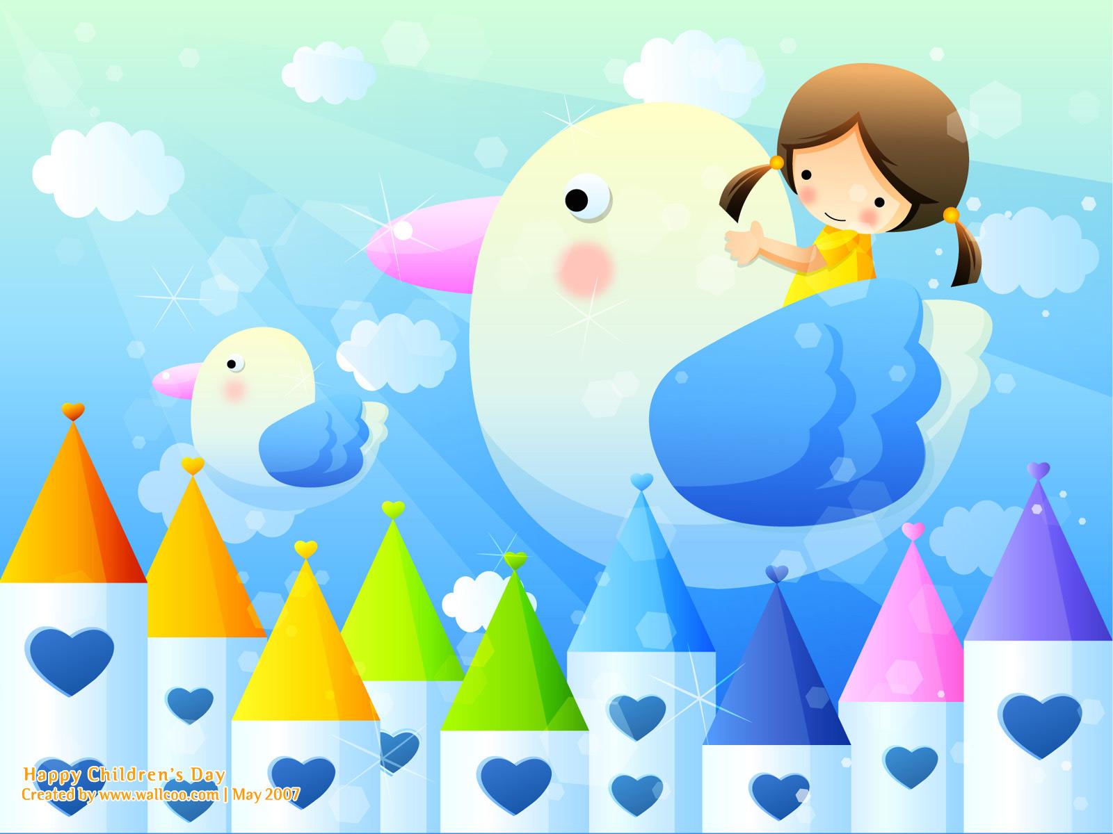 Childrens Day Wallpaper Greetings KidsFunDrawingArt 1600x1200