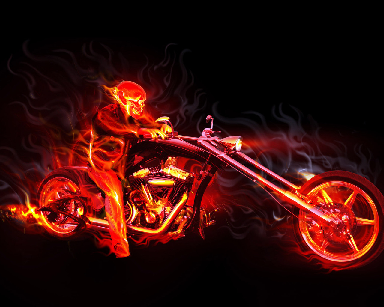 Ghost Rider 3d 1280x1024