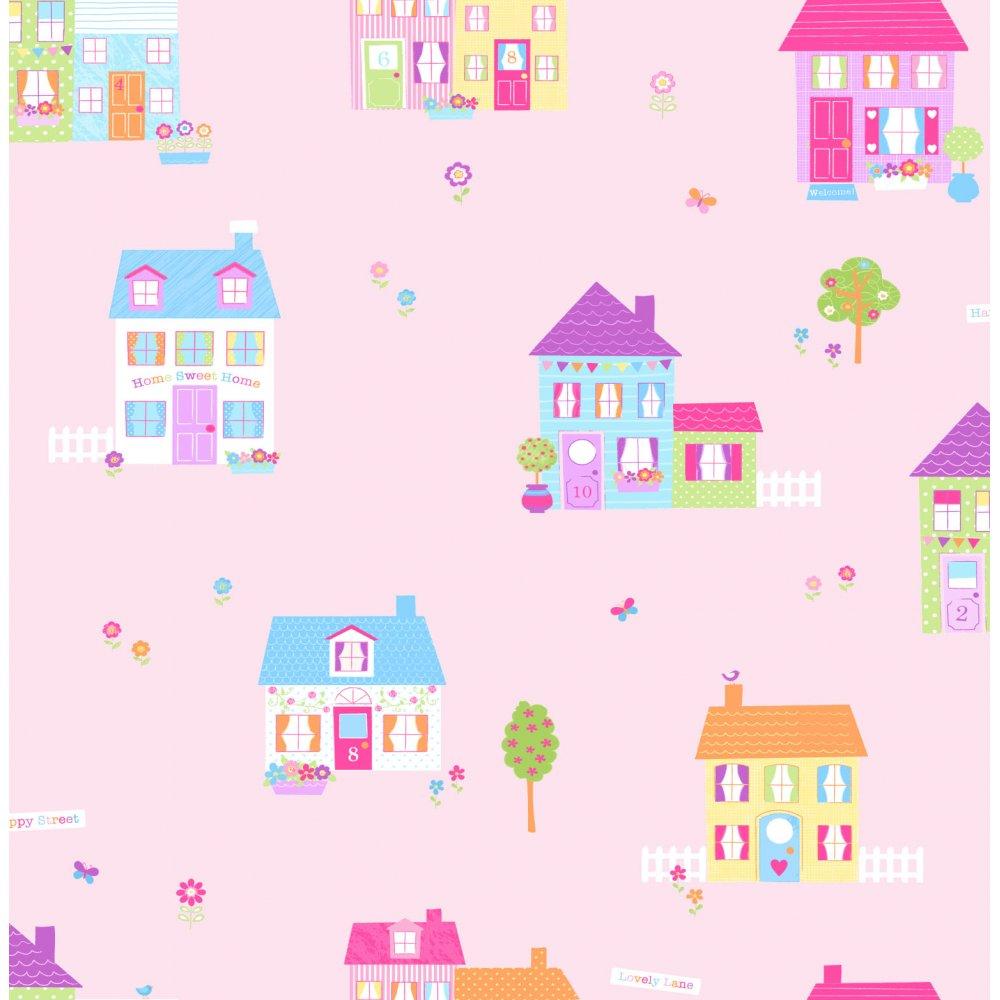 Wallpaper Fun4Walls Fun4Walls Happy Street Childrens Wallpaper 1000x1000