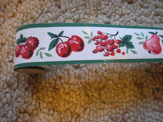 DURO 1940S WALLPAPER BORDER 2 INCHES WIDE by TwinSpruceAntiques 570x427