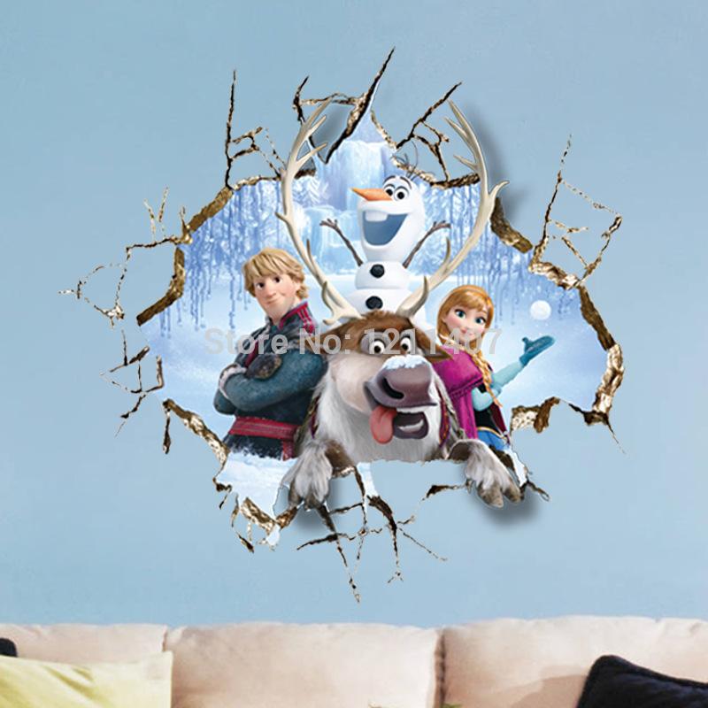 com Buy 6060 cm PVC Elsa Frozen Christmas Bedroom poster Olaf 800x800