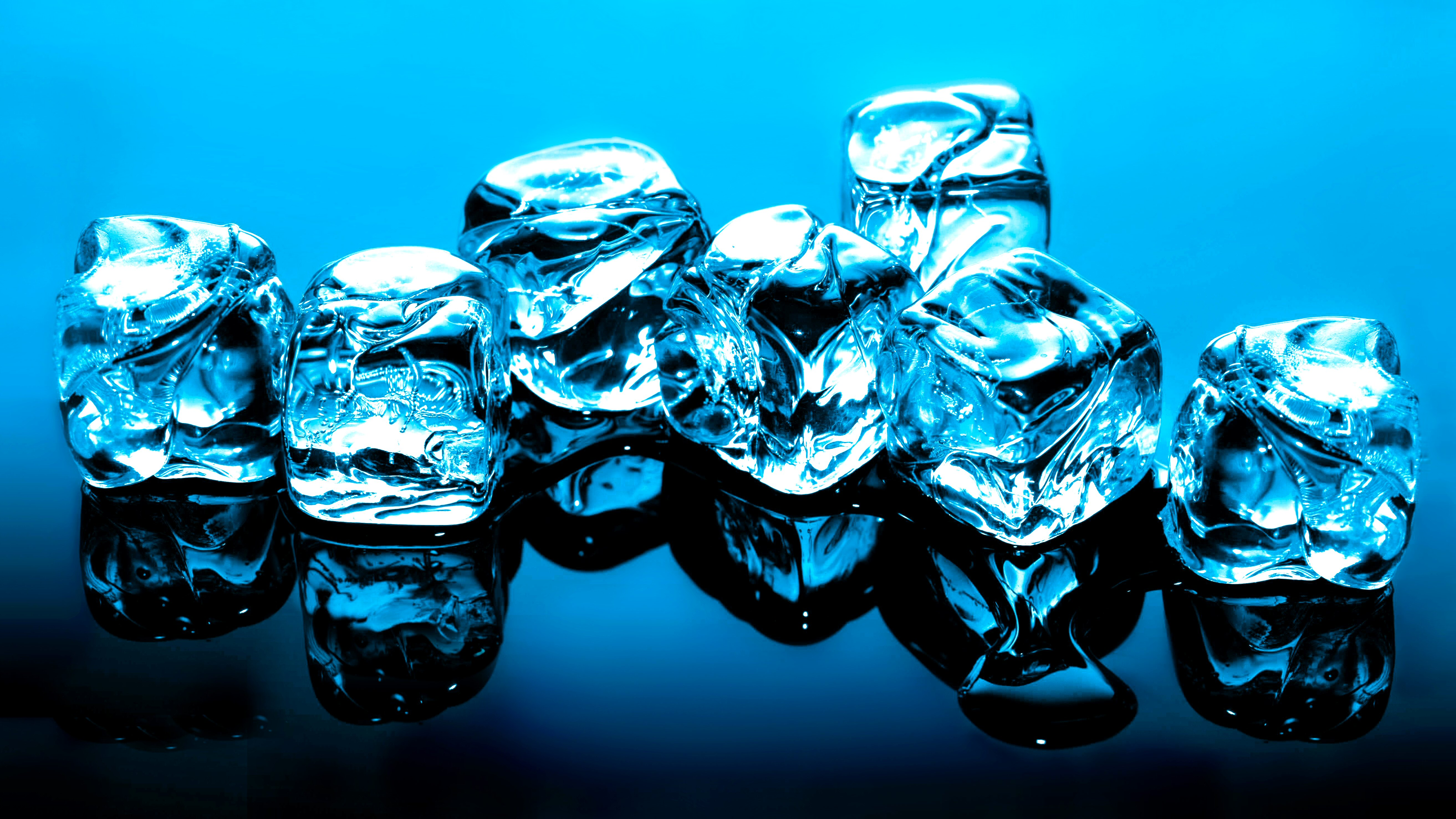 Ice Cube Photography CGI Miscellaneous Blue Highres Cube Wallpaper 5253x2955