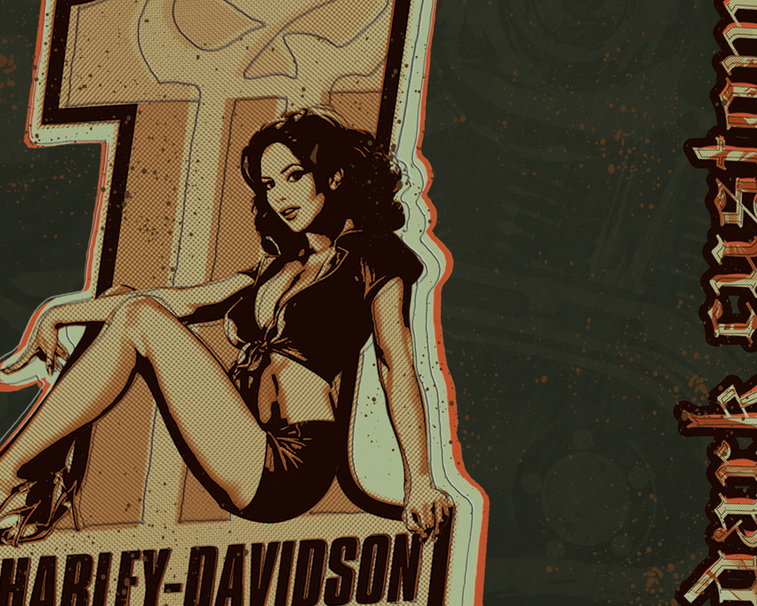 Harley Davidson Pin up girl wallpaper   ForWallpapercom 757x606
