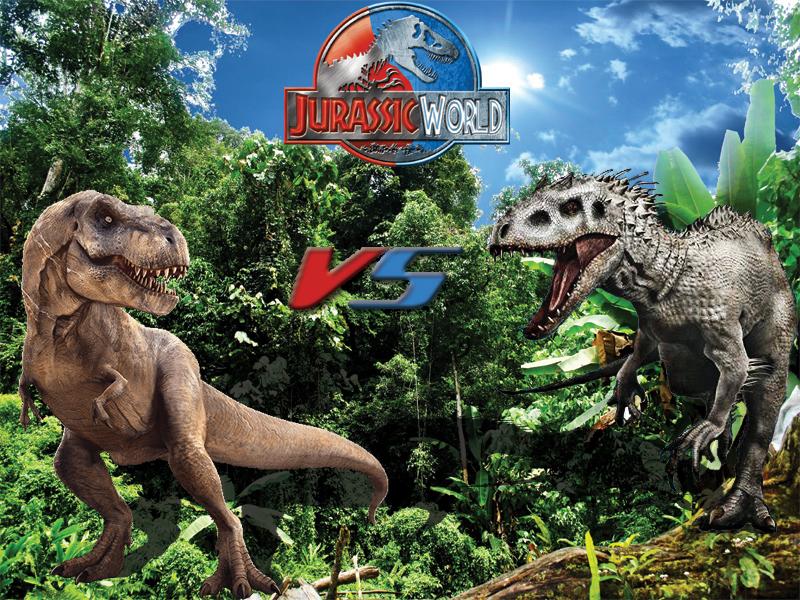 Jurassic World T Rex vs Indominus Rex