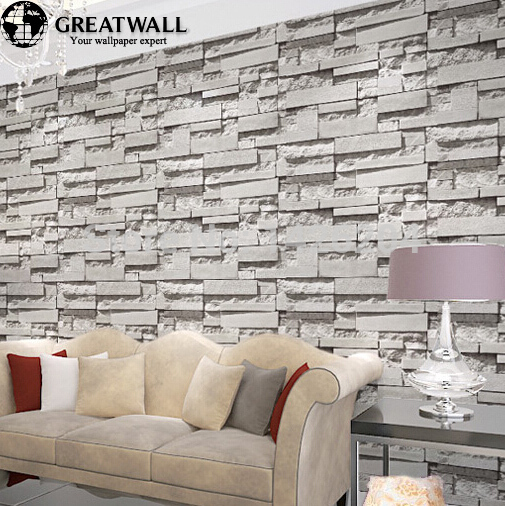 Great wall brick wall background wallpaper grey for living room 3d 505x506