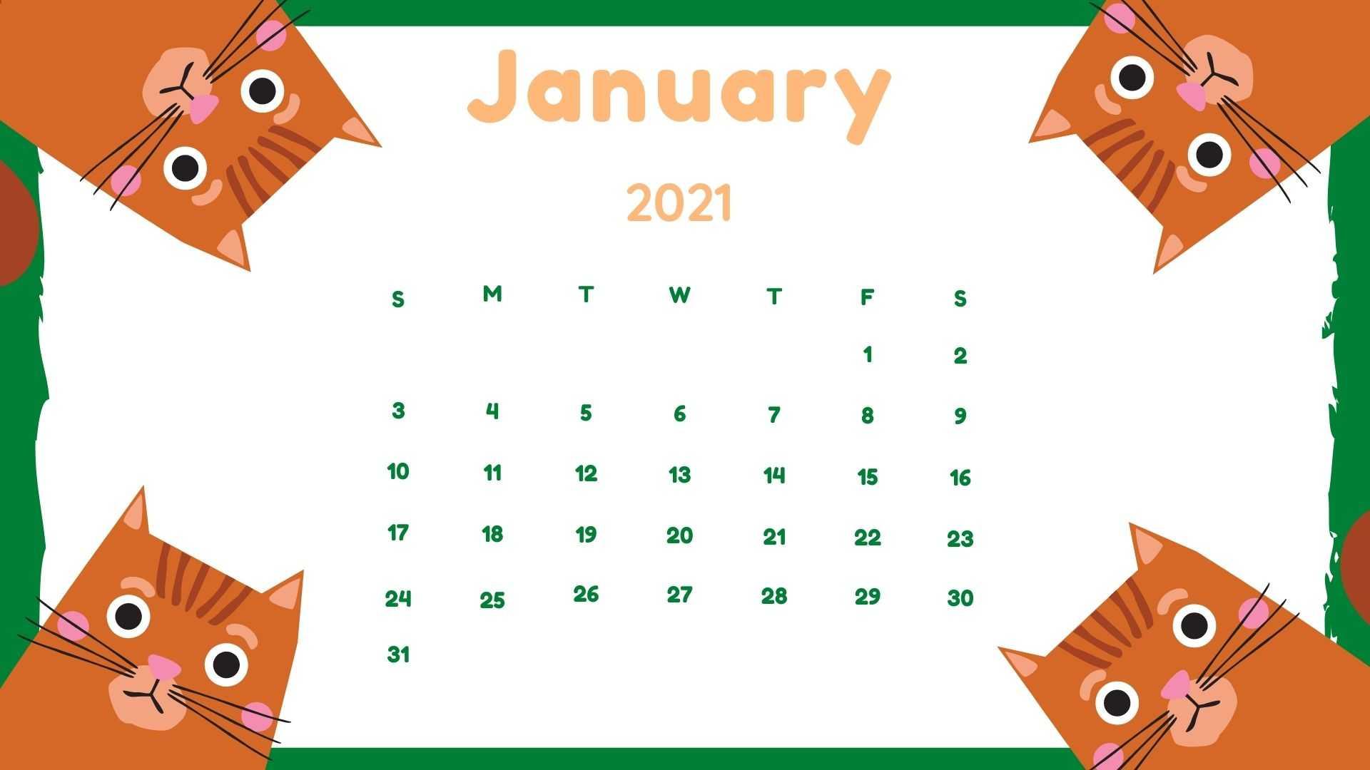 January Calendar 2021 Wallpaper   KoLPaPer   Awesome HD 1920x1080