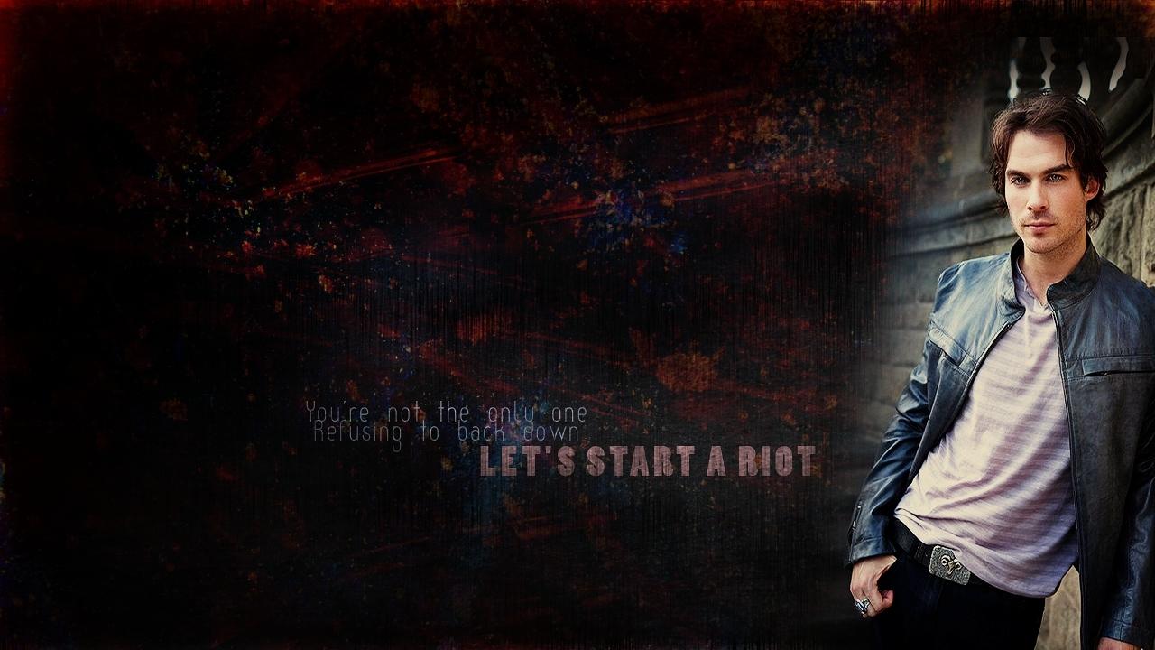 The Vampire Diaries Damon Wallpaper - WallpaperSafari