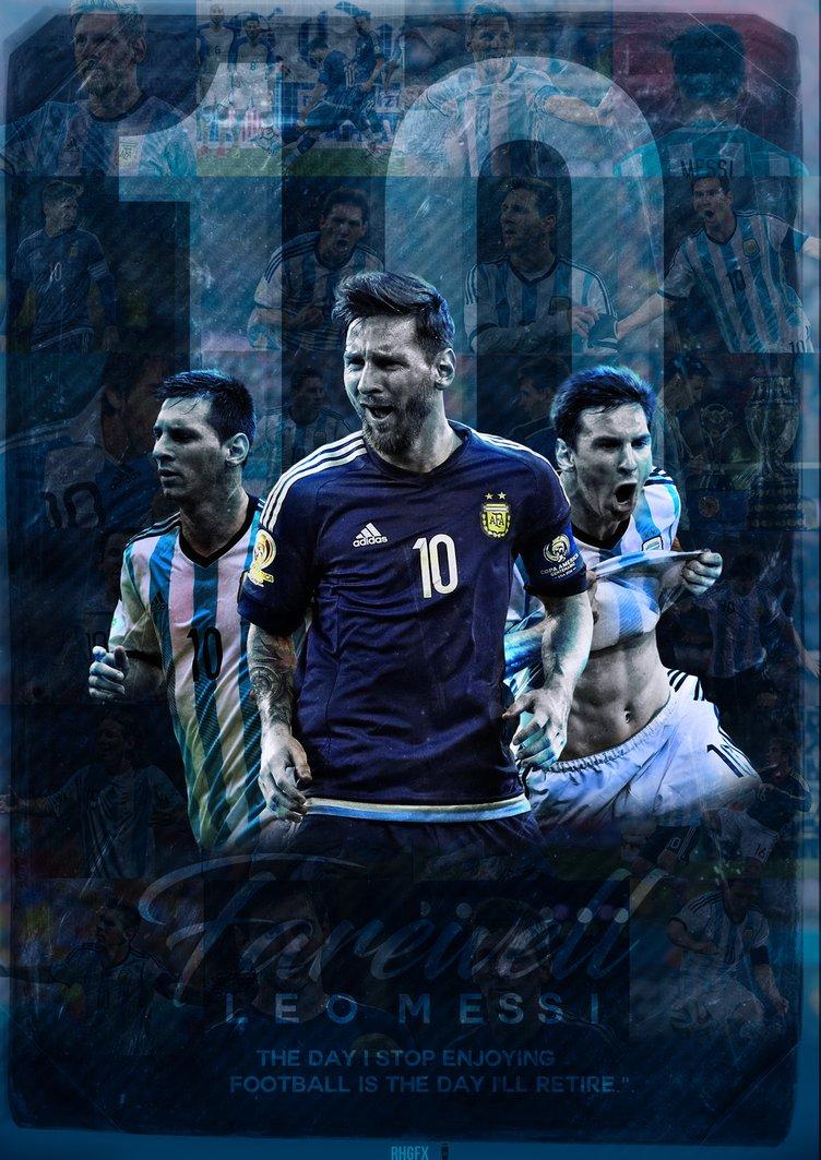 Lionel Messi Argentina Farewell Wallpaper 2016 by RHGFX2 752x1063