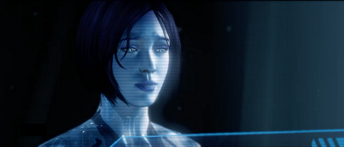 Another Halo 4 screen grab rendering of Cortana Slightly modified 1152x493