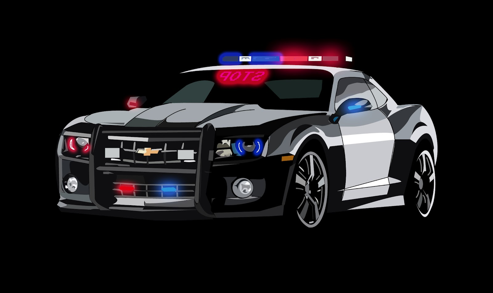 Best Camaro Black Police Car Wallpaper New Best Wallpapers 2011 1600x954