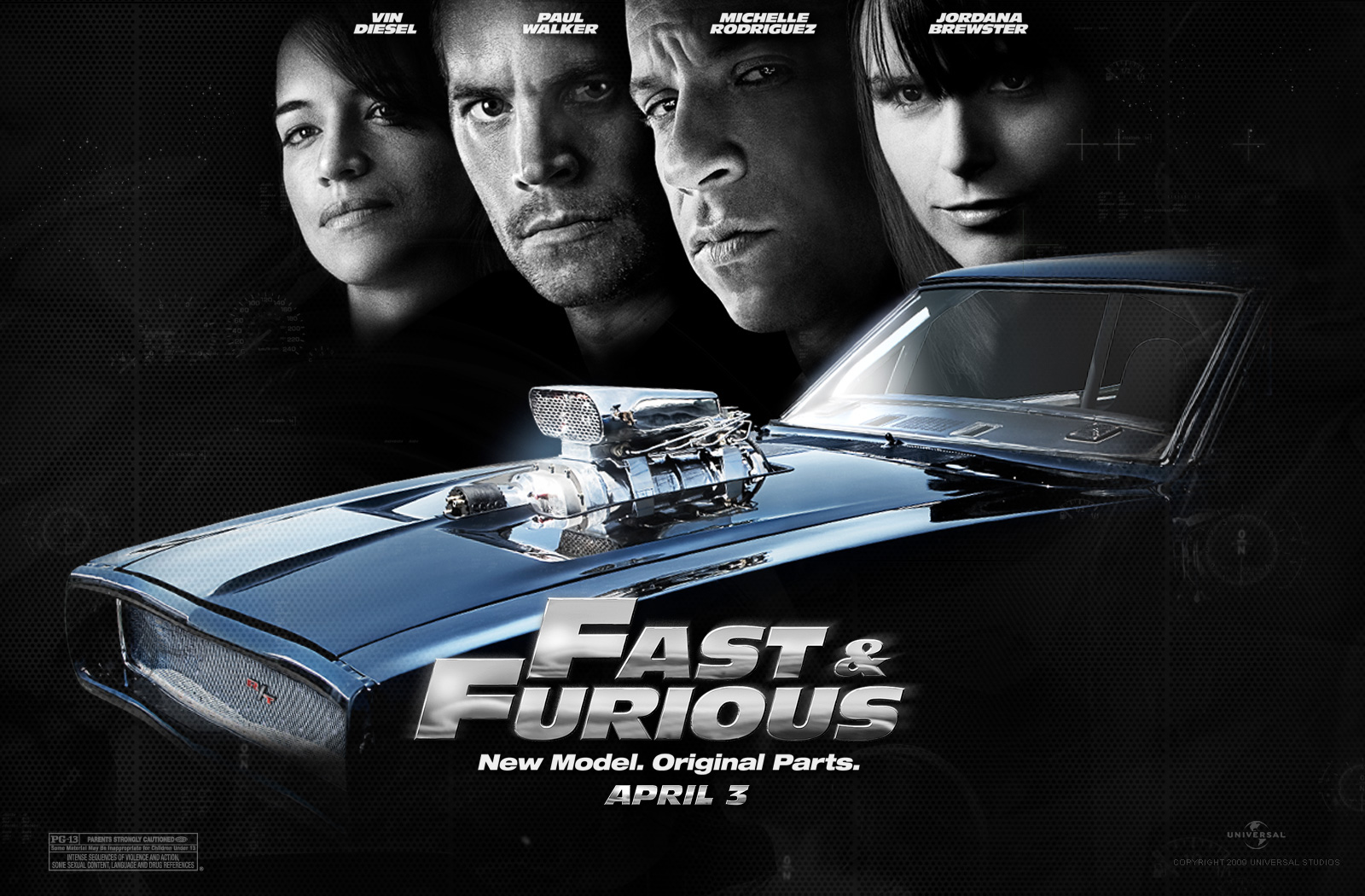 Vin Diesel in The Fast and the Furious 4 Wallpaper 1 800jpg 1600x1050
