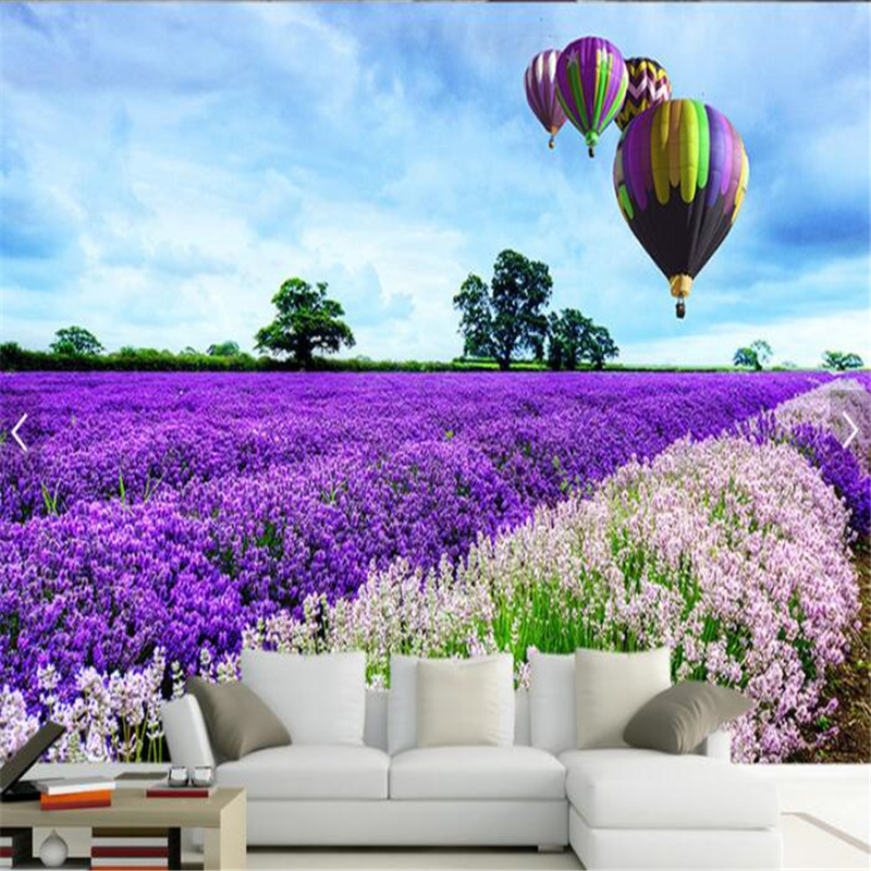 beibehang Custom photo wallpaper Provence Lavender Field TV wall 800x800