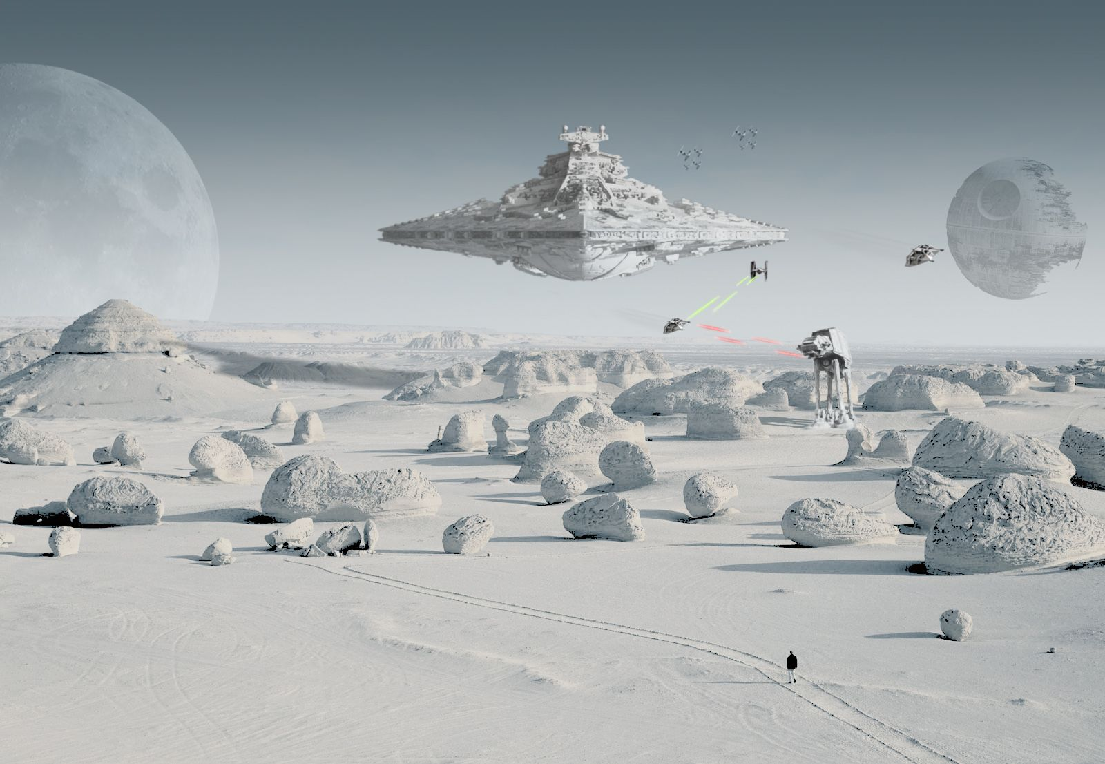 37 Star Wars Snow Background On Wallpapersafari