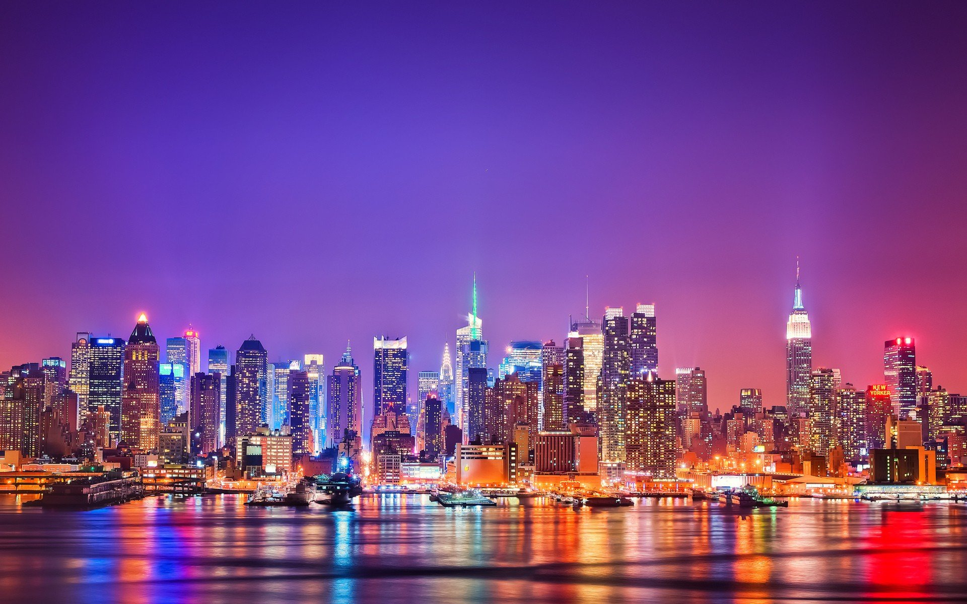 Daily Wallpaper New York Skyline at Night I Like To Waste My Time 1920x1200