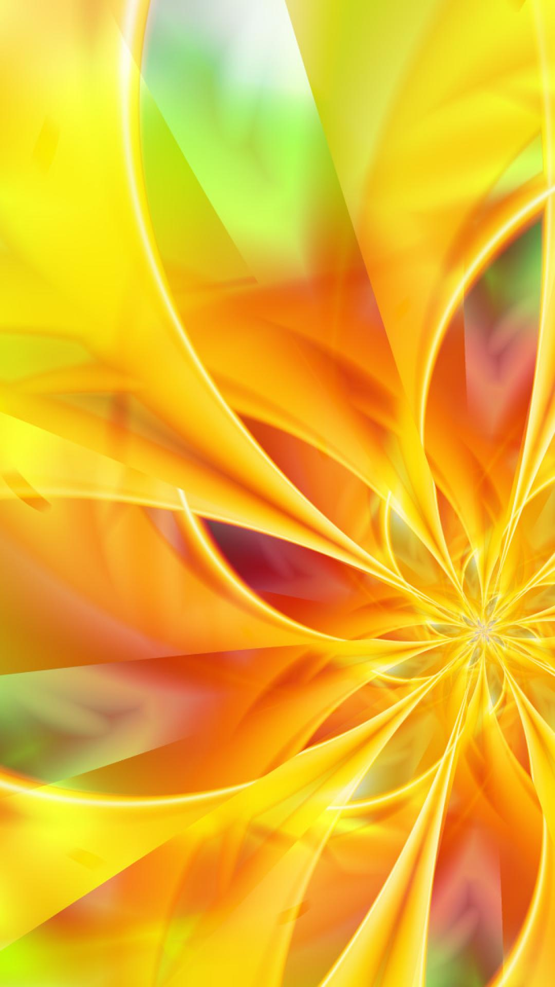 abstract cool yellow flower HD Wallpaper   Abstract Vector 85448 1080x1920