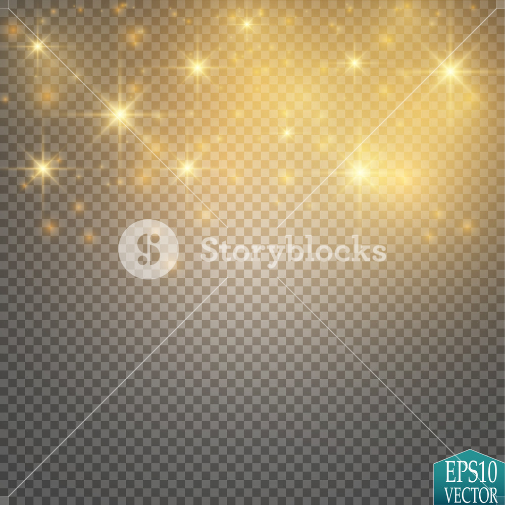 Vector gold glitter wave illustration Gold star dust trail 1000x1000