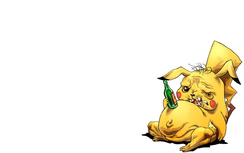 pokemon pikachu funny drunk alcoholism 1680x1050 wallpaper 800x500