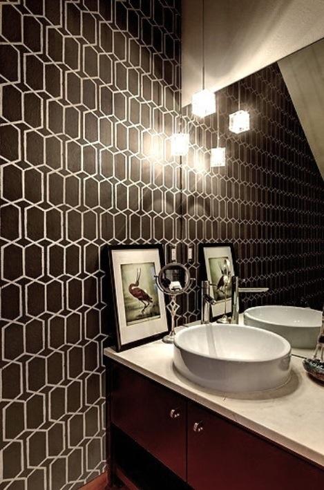 GREAT BATHROOM WALLPAPER IDEAS MAMAPJ 469x709