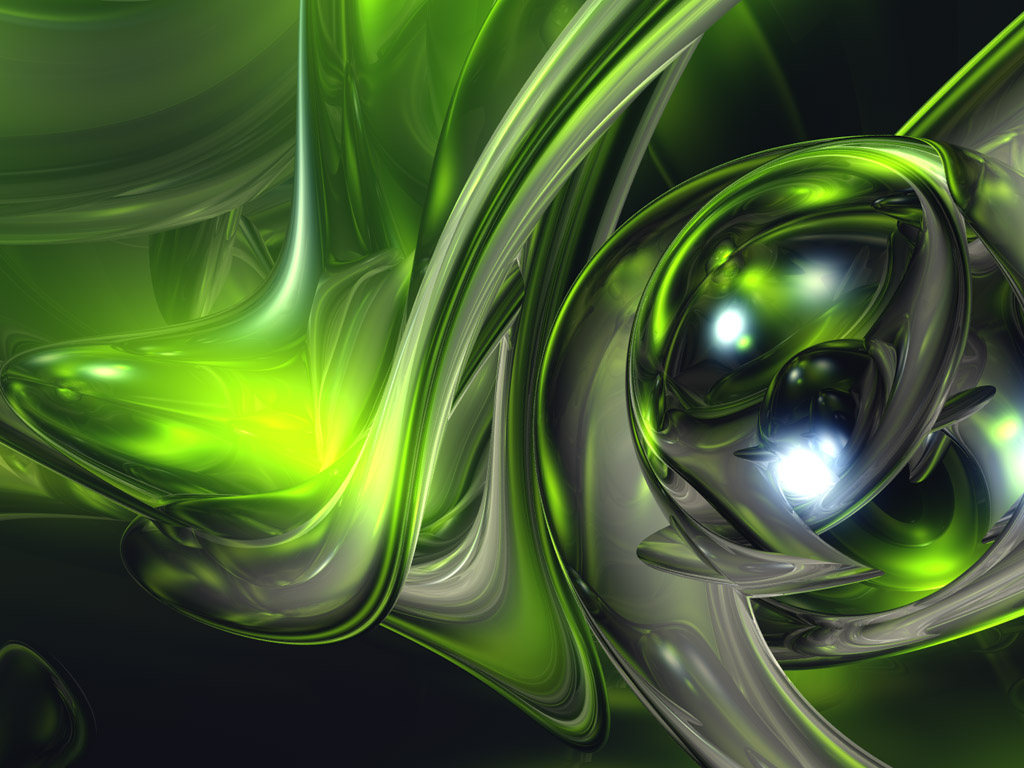 Abstract Green by RhoXPT 1024x768