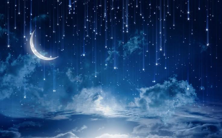 Stars Rain Fantasy Night HD Wallpaper Desktop Background 736x459