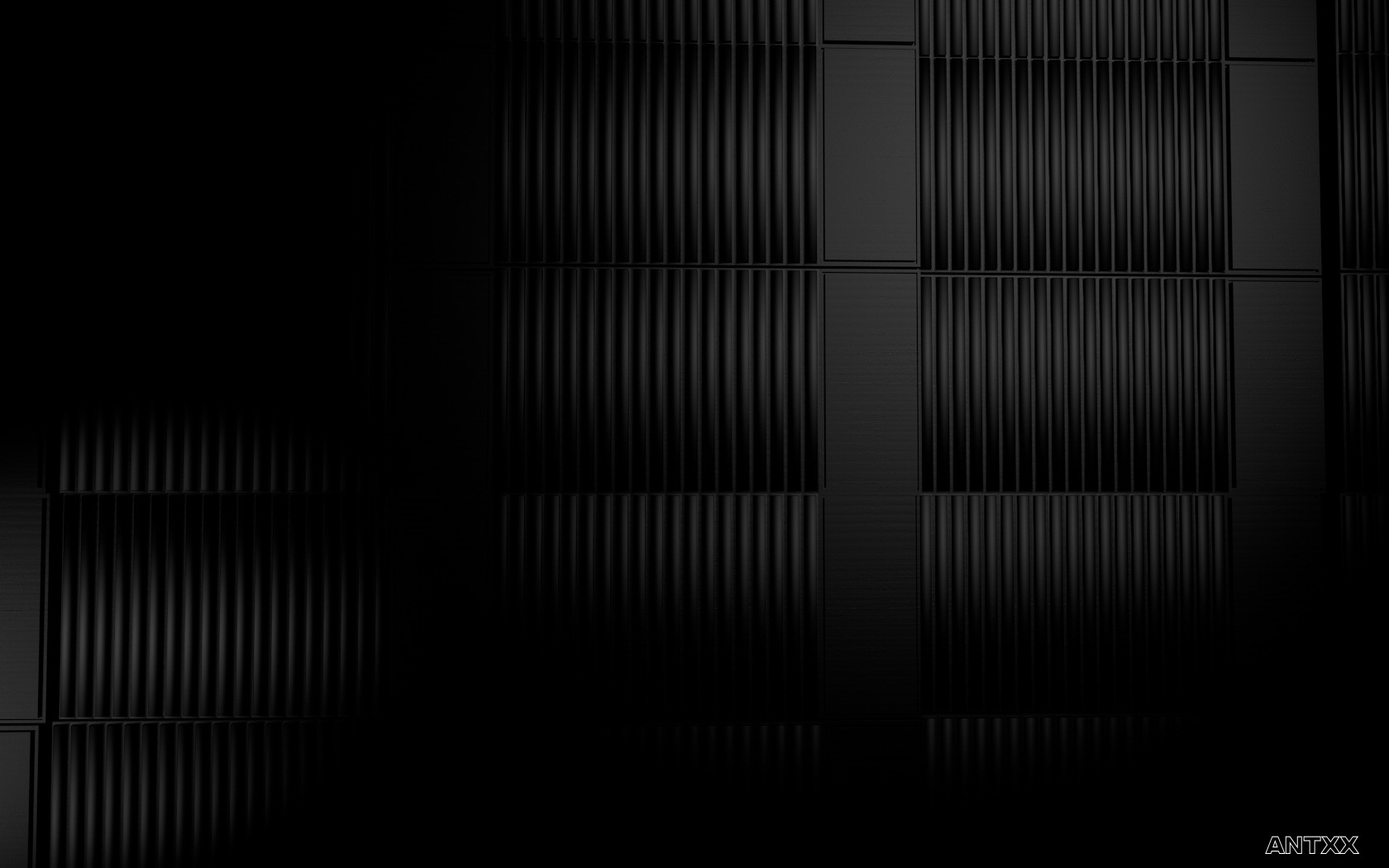 Made in Cinema 4D Just black cubes to have a nice calm background 1680x1050