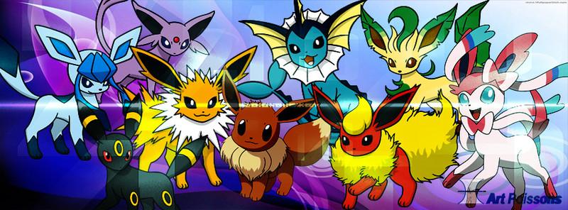 Pokemon Eevee Wallpaper hd Eevee Evolutions Wallpaper hd 800x296