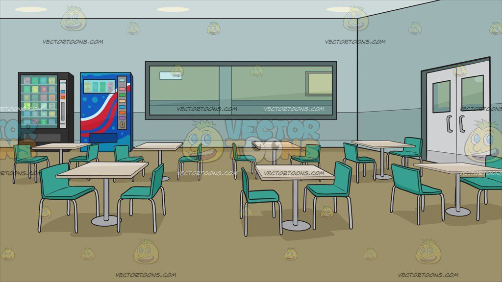 Employee Lunch Room In An Office Building Background Clipart 1024x576