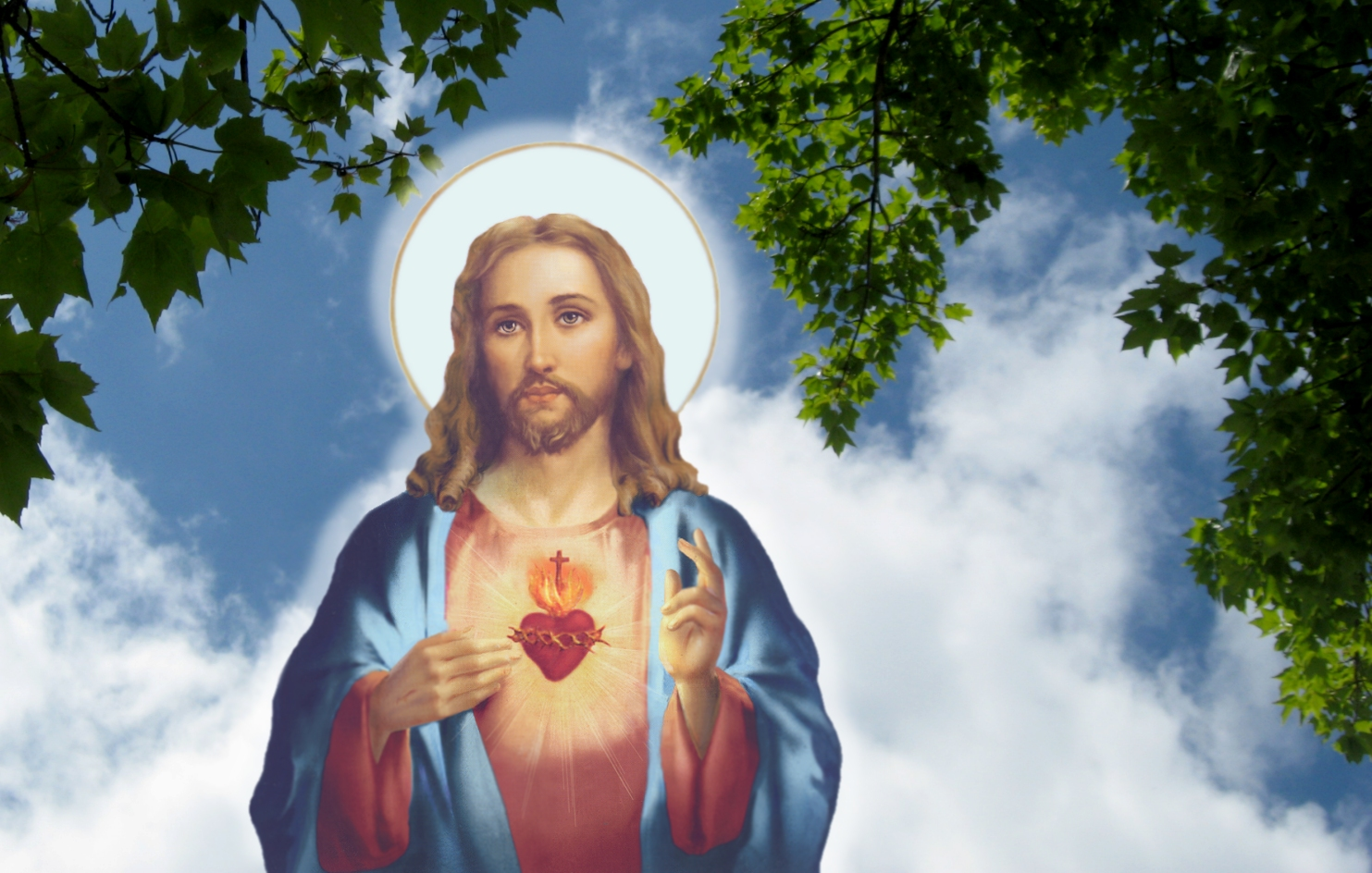 sacred heart of jesus Wallpaper and Background Image 1483x944