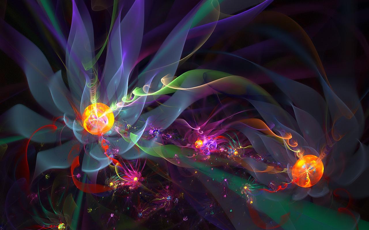 3D Fantasy rsum fleurs colores Fonds dcran HD 15   1280x800 1280x800