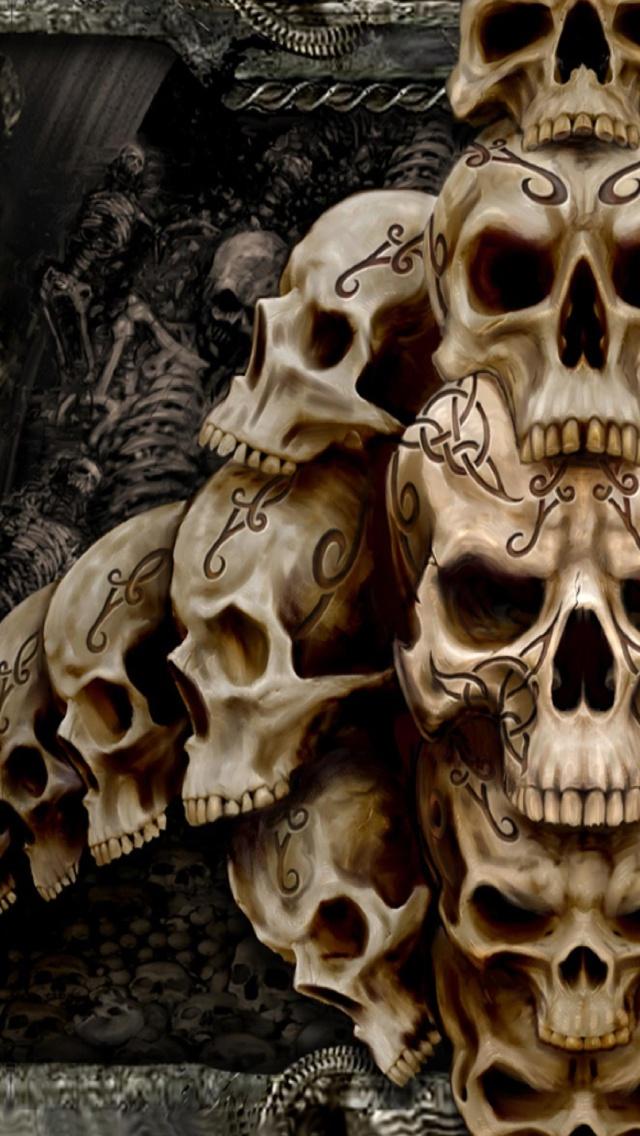 49+] Skull Wallpaper for iPhone on WallpaperSafari