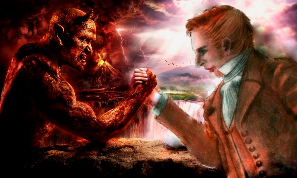 God vs Devil Wallpaper WallpaperSafari